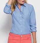 Shines - Bluse aus Biobaumwolle - light blue