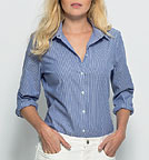 Shines - Bluse aus Biobaumwolle - white-light blue