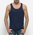 Runs denim - Tank-Top aus Biobaumwolle - dark indigo M