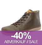 Basket Leather - Schnürschuhe aus Leder - marron