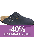 Boston - Clogs Mikrofaser vegan - navy
