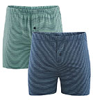 Boxer Shorts - Biobaumwolle - blue/green - 2er-Pack