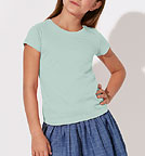 Kinder T-Shirt - Mini Draws Bio-Baumwolle - caribbean blue