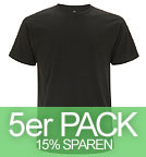 Organic T-Shirt CO2-Neutral schwarz - 5er-Pack