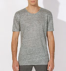 Enjoys Linen - T-Shirt aus Leinen - mid heather grey