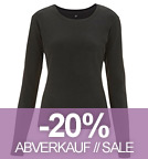 Long-Sleeved Fitted T-Shirt schwarz