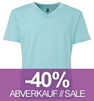 Fairtrade V-Neck T-Shirt aus Biobaumwolle - mint