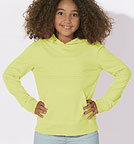 Kinder Longsleeve aus Biobaumwolle - Mini Bloom - sunny lime