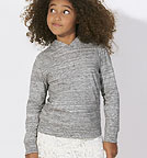 Kinder Longsleeve Biobaumwolle - Mini Bloom - slub heather grey