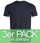 Expects - V-Neck T-Shirt Biobaumwolle - navy 3er-Pack