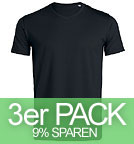 Expects - V-Neck T-Shirt Biobaumwolle - schwarz 3er-Pack