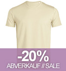 Expects - V-Neck T-Shirt aus Biobaumwolle - natural