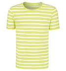 Stripes - Streifenshirt aus Biobaumwolle - white-sunny lime