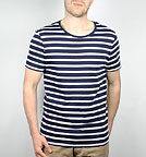 Stripes - Streifenshirt aus Biobaumwolle - white-navy