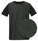 Leads Denim Panel - T-Shirt aus Bio-Baumwolle black denim/black