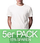 Organic T-Shirt CO2-Neutral weiss - 5er-Pack