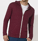 Stream - Sweatjacke aus Biobaumwolle - dark heather burgundy