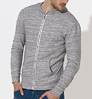 Stream - Sweatjacke aus Biobaumwolle - slub heather grey