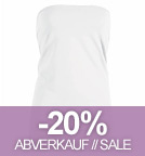 Charms - Tube-Top aus Bio-Baumwolle - weiss