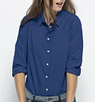 Shines - Bluse aus Biobaumwolle - deep royal blue