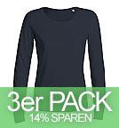 Jokes - Langarm T-Shirt U-Ausschnitt - navy 3er-Pack