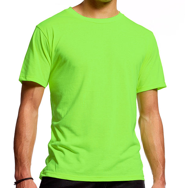 Neon t shirts ultra fine fluorescent t shirt