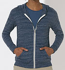 Stream - Sweatjacke aus Biobaumwolle - dark heather blue