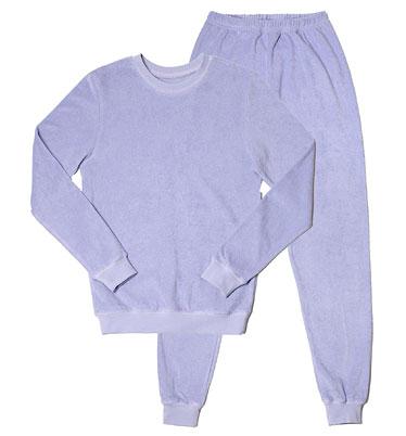 Frauen Frottee-Pyjama - Biobaumwolle lavendel