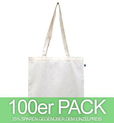 Fairtrade Tasche aus Bio-Baumwolle - natur - 100 Stück