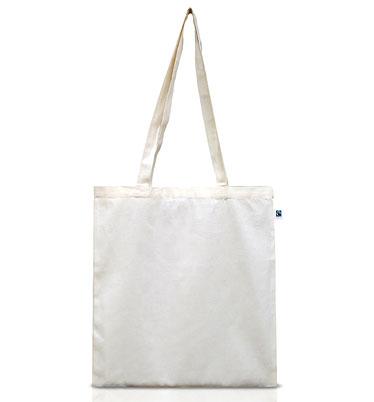 Doppelpack - Fairtrade Tasche aus Bio-Baumwolle - natur