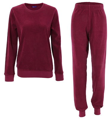 Frauen Frottee-Pyjama - Biobaumwolle grenadine