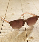 Trieste - Sonnenbrille aus Holz - red rose