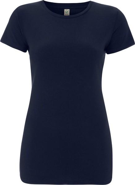 Organic Slim-Fit T-Shirt navy