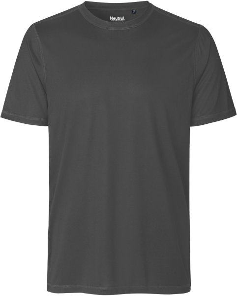 Performance T-Shirt aus recyceltem Polyester - charcoal