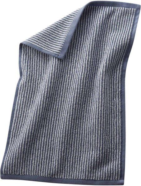 Gäste-Handtuch aus Bio-Baumwolle 30x50 cm infinity blue/natural