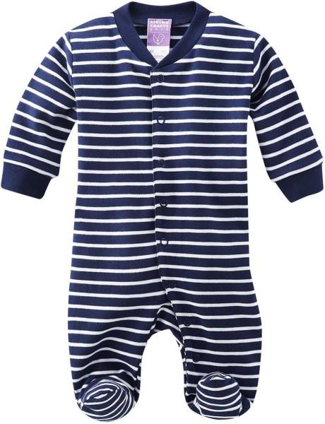 Baby Schlafanzug einteilig gestreift Biobaumwolle GOTS