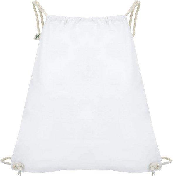 Organic Drawstring Gym Bag - white