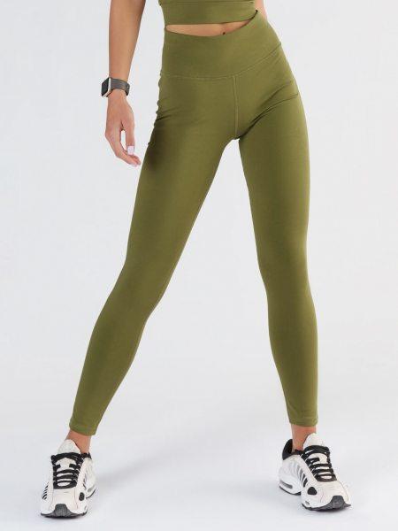 Active Leggings aus Bio-Baumwolle & Elastan - olive