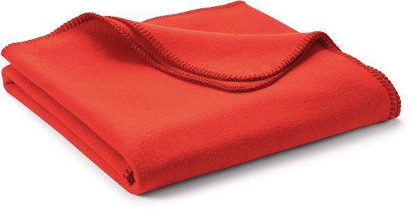 Fleece-Decke klein aus 100% Biobaumwolle - red clay