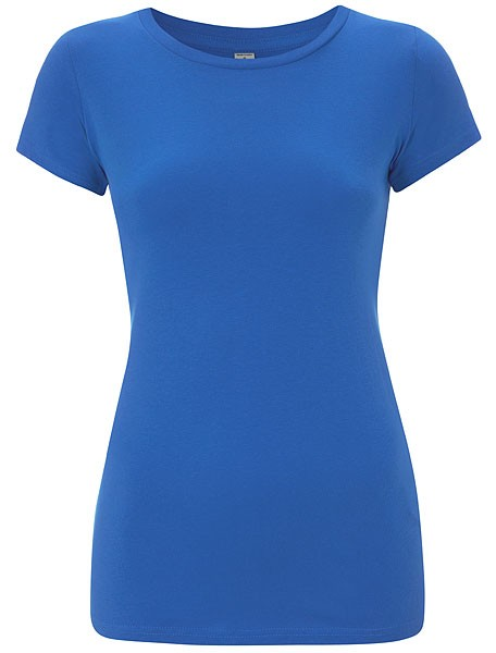 Organic Slim-Fit T-Shirt bright blue - Bild 1