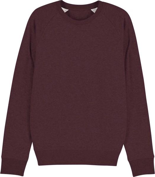 Sweatshirt aus Bio-Baumwolle - heather grape red