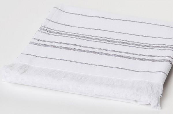 Spa-Handtuch aus Biobaumwolle 100 x 50 cm white/platin - Bild 1