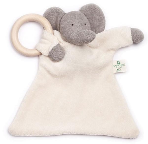 Nuckeltier Elefant mit Ahornring - Puppe/Tuch aus Bio-Baumwolle - Bild 1