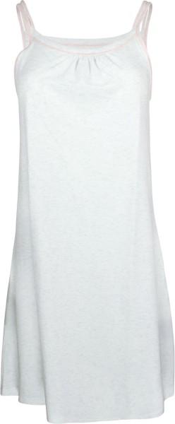 Nachthemd ohne Arm aus Fairtrade Bio-Baumwolle - ecru-melange