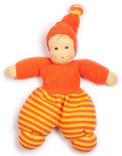Mini Möpschen Puppe aus Bio-Baumwolle - orange - Bild 1