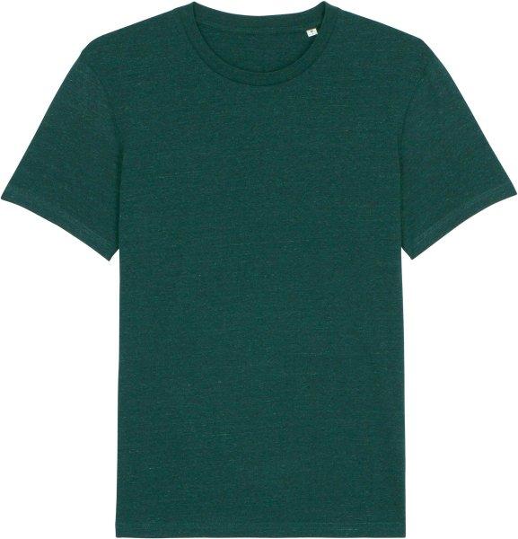 T-Shirt aus Bio-Baumwolle - heather snow glazed green