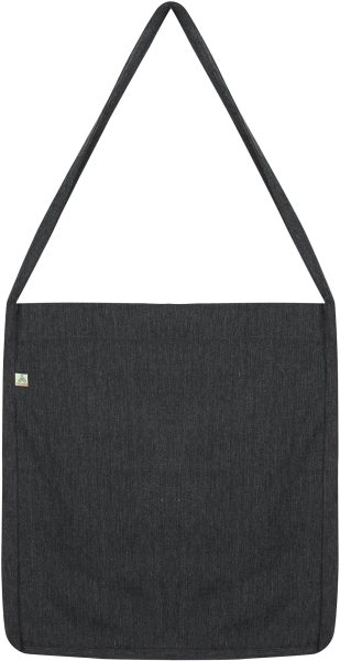 Recycled Sling Bag aus Baumwolle & Polyester - melange black - Bild 1