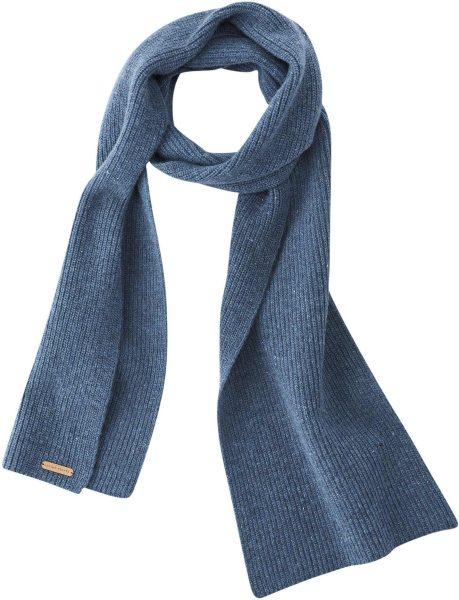 Strickschal aus Bio-Wolle - mid blue