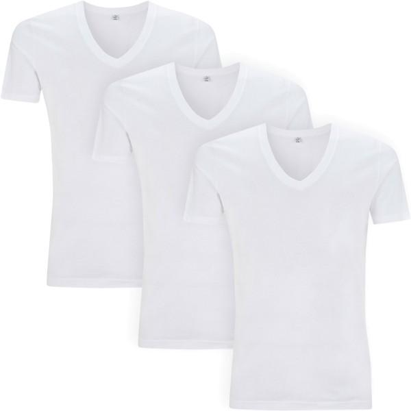 3er-Pack Herrenshirt mit V-Ausschnitt