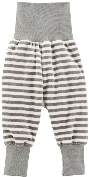 Baby Nicki-Hose Bio-Baumwolle – moss/natural striped
